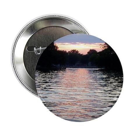 "Indian lake Sunset 2.25"" Button"