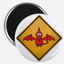 Pterodactyl Warning Sign Magnet