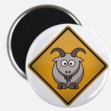 Goat Warning Sign Magnet