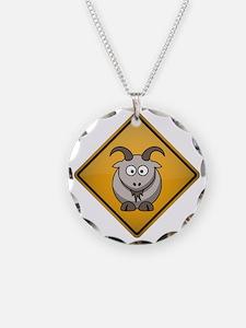 Goat Warning Sign Necklace