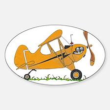 Cub Airplane Sticker (Oval)