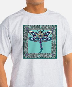 Celtic Dragonfly Square T-Shirt
