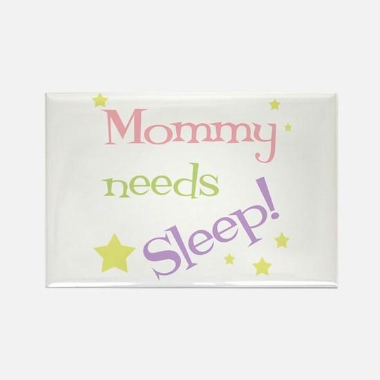 Mommy Needs Sleep Rectangle Magnet (100 pack)