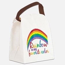 Rainbow is My Favorite Color Canvas Lunch Bag