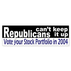Republicans can't keep it up (sticker)