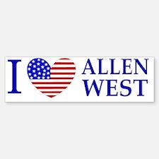 I Love Allen West Bumper Bumper Sticker