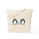 Communication - Penguin Humor Tote Bag