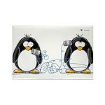 Communication - Penguin Humor Rectangle Magnet