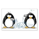 Communication - Penguin Humor Sticker (Rectangular
