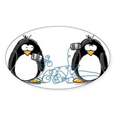 Communication - Penguin Humor Oval Decal