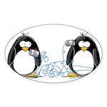 Communication - Penguin Humor Oval Sticker