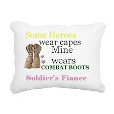Army Fiance Rectangular Canvas Pillow