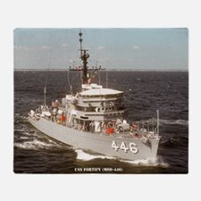 uss fortify large framed print Throw Blanket