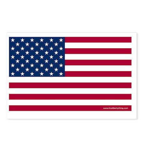 American Flag Postcards | American Flag Post Card Design Template