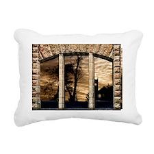 GOTHIC CASTLE VIEW WINDO Rectangular Canvas Pillow