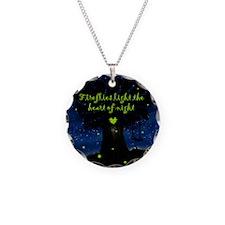 Fireflies light the heart of Necklace