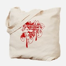 Devastation Blood Dripping Skulls Tote Bag