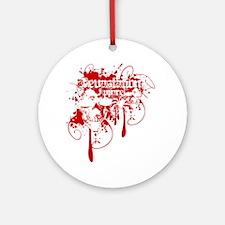 Devastation Blood Dripping Skulls Round Ornament