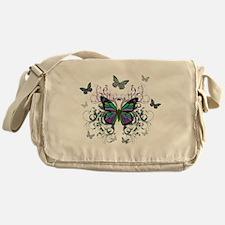 MultiColored Butterflies Messenger Bag