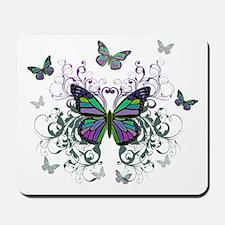 MultiColored Butterflies Mousepad