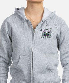 MultiColored Butterflies Zip Hoodie
