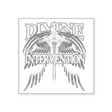 "Divine Intervention Warrior Square Sticker 3"" x 3"""