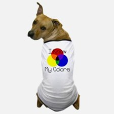 I-Know-My-Colors Dog T-Shirt