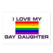 Gay Lesbian I Love My Gay Daughter Postcards (Pack