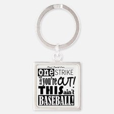 One Strike Youre Out MMA Square Keychain