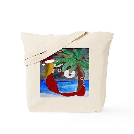 Santa Mermaid Trim a tree Tote Bag