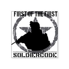 "Soldier Code First of the F Square Sticker 3"" x 3"""