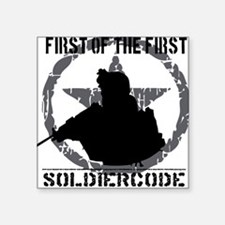 """Soldier Code First of the F Square Sticker 3"""" x 3"""""""