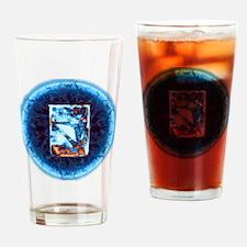 BE Yoga Navy Drinking Glass