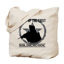 Soldier Code First of the First Tote Bag