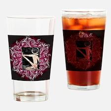 BE Yoga Design Dark Drinking Glass