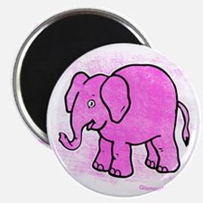 Pink Elephant distroyed Magnet