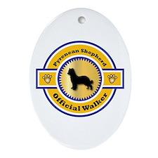 Shepherd Walker Oval Ornament