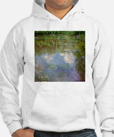 Monet Waterlillies And Clouds Hoodie
