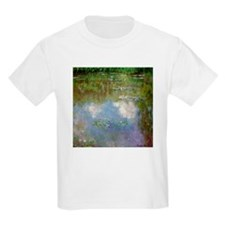 Monet Waterlillies And Clouds Kids T-Shirt