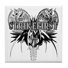 StrikeFirst Dragons MMA White Tile Coaster