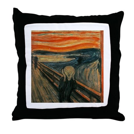 Munch The Scream Throw Pillow
