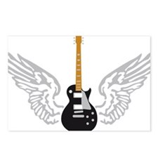 e-guitar player wings Postcards (Package of 8)