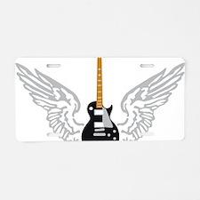 e-guitar player wings Aluminum License Plate