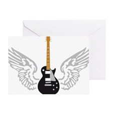 e-guitar player wings Greeting Card