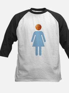 """UNC B-Ball Girl"" Kids Baseball Jersey"