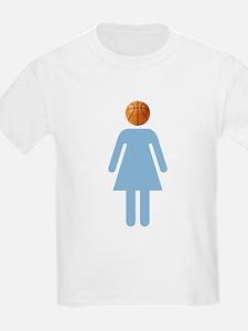 """""""UNC B-Ball Girl"""" Kids T-Shirt"""