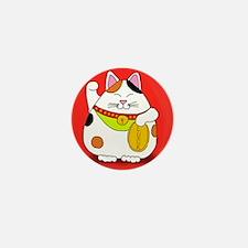 Good Luck Maneki Neko Mini Button