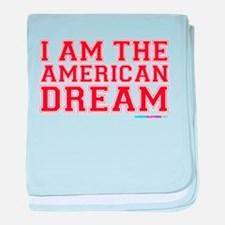 I Am The American Dream baby blanket