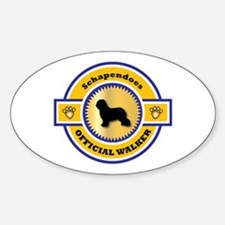 Schapendoes Walker Oval Decal