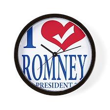 Mitt Romney 2012 Wall Clock